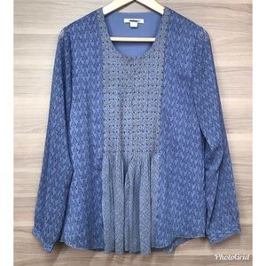 Coldwater Creek Pleated Blouse